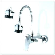 wall mount kitchen faucet with sprayer wall mounted kitchen faucet wall mounted kitchen faucets or delta