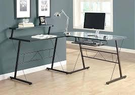 Z Line Belaire Glass L Shaped Computer Desk Z Line Belaire Glass L Shaped Computer Desk L Shaped Desks For