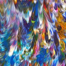 unique painting aurora borealis ii original abstract painting unique gift