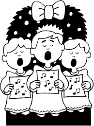christmas coloring page choir primarygames play free online games