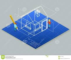 design blueprints for free architectural design blueprint drawing 3d stock vector image