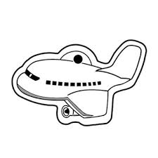 key tag airplane spot color screen print