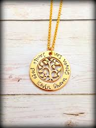 custom sted necklace sted personalised family tree necklace in gold filled