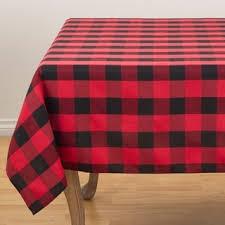 table cloth black and buffalo plaid design cotton blend tablecloth free