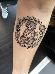 tattoos in hand raccoon by jordan wright at form8 tattoo in san francisco ca
