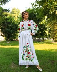 Ukrainian Traditional Boho Lacy Wedding Prom Engagement Dress