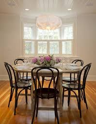 Thonet Vintage Chairs Vintage Bentwood Thonet Chairs Dining Room Rustic With Wood Round