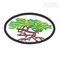 lone cypress tree embroidery design