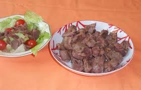 cuisiner les gesiers gésiers frais de poulet confits en express recette dukan pp par