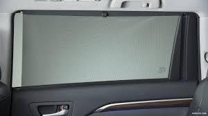 2014 toyota highlander rear window shade interior detail hd