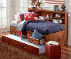 Full Bed With Trundle Bedroom Breathtaking Merlot Full Size Bookcase Captain U0027s Day Bed