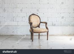 classic chair classic chair style vintage room white stock photo 403983580