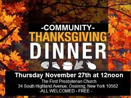snow won t stop community thanksgiving dinner ossining ny patch