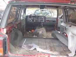 1987 jeep wagoneer interior xj interior removal bedlining and re installation jeepforum com