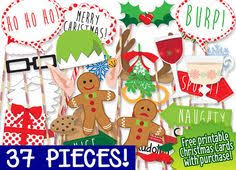 Christmas Photo Booth Props Holiday Photo Booth Puntelli Natale Foto Di Littleretreats