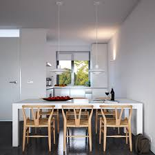 kitchen room design interior three tones concrete wood kitchen