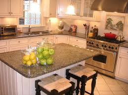 Kitchen Granite Countertops Ideas Innovative Kitchen Tile For With Wooden Varnished Cabinets And