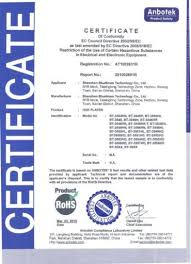 rohs compliance certificate template wireless qi power charger