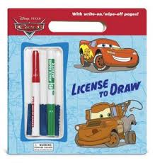 disney cars license draw book gkworld