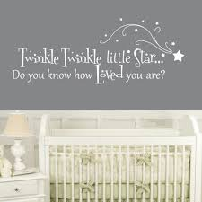 online get cheap nursery decal quotes aliexpress com alibaba group classic twinkle twinkle little star wall stickers quotes removable nursery decal diy wall art vinyls kids baby bedroom decor