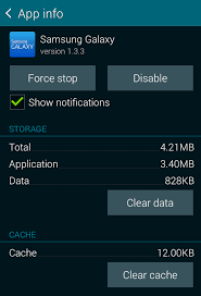android how to clear cache unfortunately samsung galaxy has stopped how to clear an app s