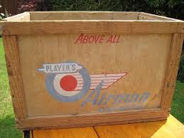1950s vintage players shipping crate 60years old see british