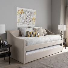 Modern Daybed With Trundle Baxton Studio Kallikrates Modern Daybed With Trundle Bed Free