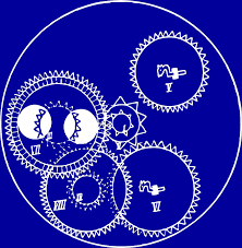 clock gears blueprint drawing by