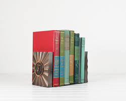 monogram bookends vintage monogram bookends vintage metal mid century bookends