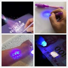 uv marker and light useful 3pcs invisible ink spy pen built in uv light magic marker