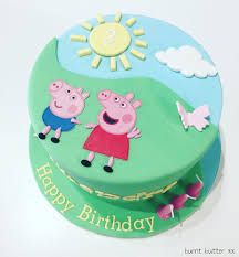 peppa pig cakes peppa pig cake burnt butter cakes