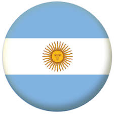 argentina country flag 25mm pin button badge