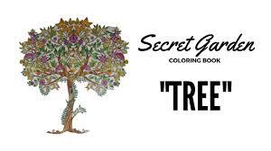 secret garden coloring book how i color tree youtube