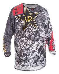 fly motocross jersey fly racing kinetic mesh rockstar jersey revzilla