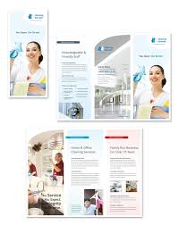 cleaning u0026 janitorial services tri fold brochure template