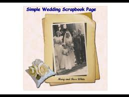 Wedding Scrapbook Page Simple Wedding Scrapbook Or Photobook Page Using Gimp Youtube