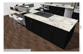 kitchen layout design with l shaped white wooden kitchen cabinet