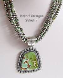 turquoise necklace designs images Paul livingston native american artist signed royston turquoise jpg