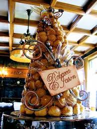 a standard croquembouche french wedding cake delicious