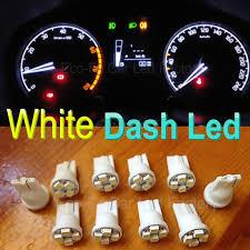 Led Cluster Lights T10 White Car Gauge Instrument Cluster Led Light Bulbs Lamp For
