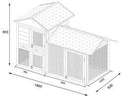 Fox Proof Rabbit Hutches Smokey Deluxe Fox Proof Large Rabbit Hutch 6ft Long With 3mm