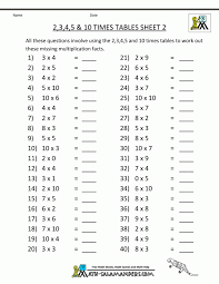 print out maths sheets free printable math sheets multiplication 2 3 4 5 10 times tables