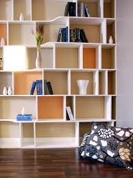floating white wooden books shelves with four placed on black arafen