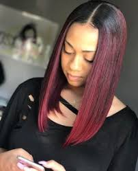 black hair weave part in the middle middle part quickweave bob hair pinterest bobs middle