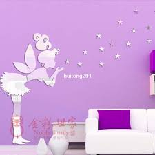 fairy with stars ps wall decal 1mm thickness 3d mirror stickers 35