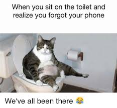 Forgot Phone Meme - when you sit on the toilet and realize you forgot your phone we ve