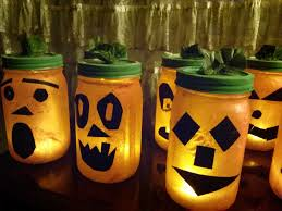 recycled jar jack o u0027lanterns with pictures