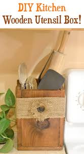 diy wooden utensil box for your kitchen the frugal girls