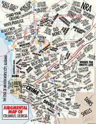 Atlanta Ga Map Judgmental Maps Columbus Ga By A Disgruntled Citizen Copr 2014