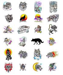 collection of 25 tribal wolf and symbol tattoos for